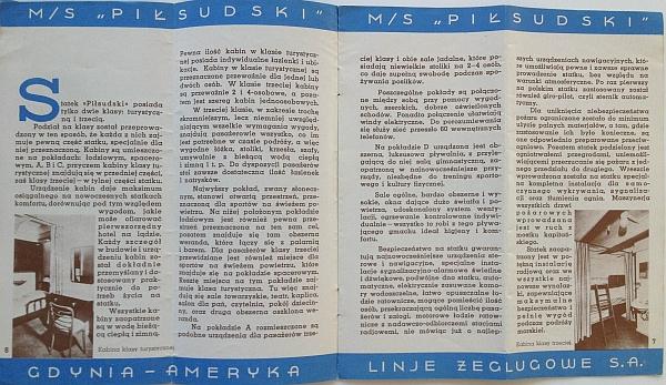 "M/S ""Pi?sudski"", 1935 Brochure, Inside View four"