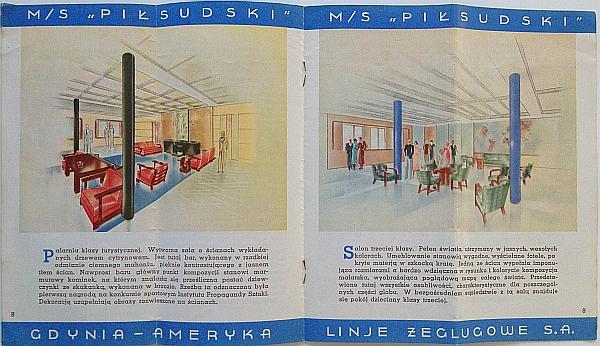 "M/S ""Pi?sudski"", 1935 Brochure, Inside View five"