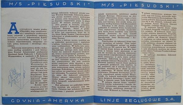 "M/S ""Pi?sudski"", 1935 Brochure, Inside View six"
