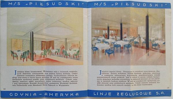 """M/S """"Pi?sudski"""", 1935 Brochure, Inside View seven"""