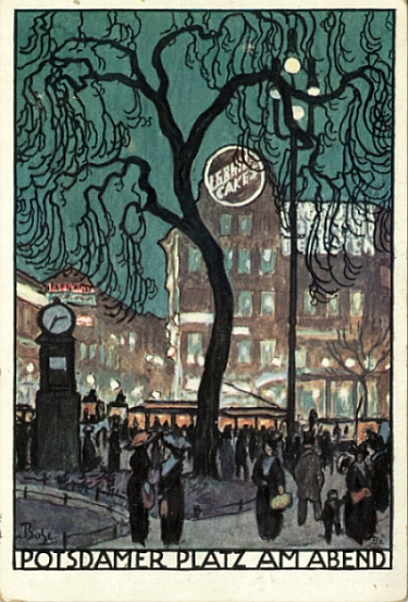 """Potsdamer Platz am Abend (Potsdamer Platz in the Evening), 1912"