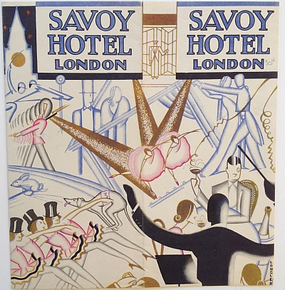 Savoy Hotel Brochure, 1933 Variant A, Cover