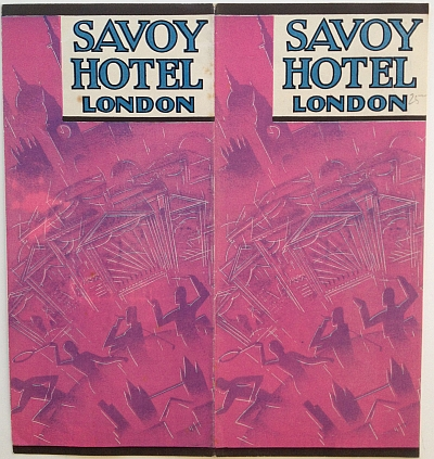 Savoy Hotel Brochure, 1933 Variant B, Cover