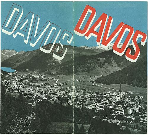 Davos Travel Brochure by Herbert Matter, circa 1935 Front Cover