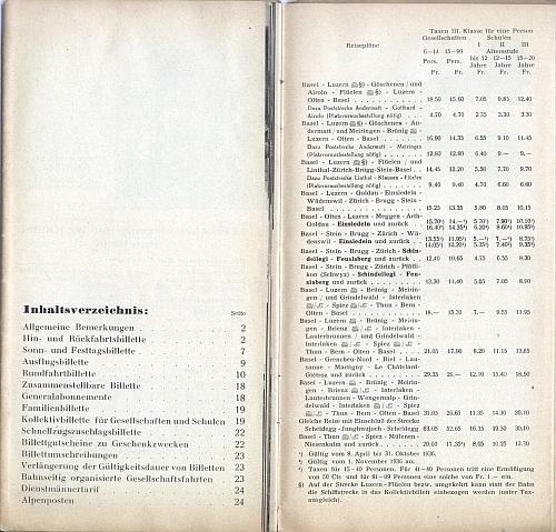 Schweizerische Bundesbahnen, Inside View Two