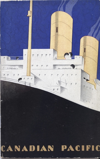 Canadian Pacific Steamship Brochure, 1930, Front Cover