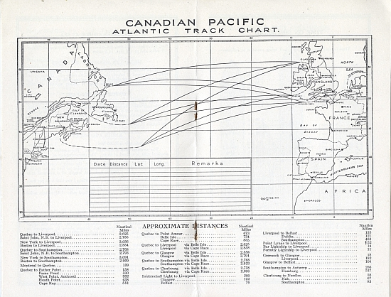 Canadian Pacific Steamship Brochure, 1930, Inside View Two