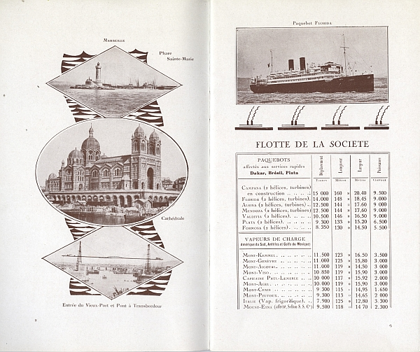 "Travel brochure ""L'Amerique du Sud par Marseille,"" 1929. Inside View Two"