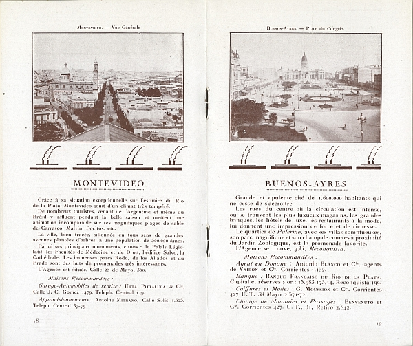"Travel brochure ""L'Amerique du Sud par Marseille,"" 1929. Inside View One"