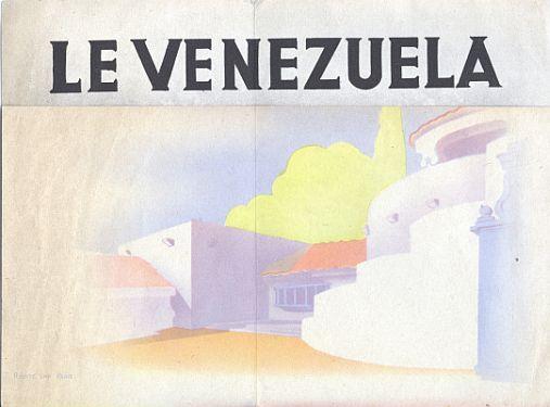Brochure - Paris Exposition 1937 Venezuela - Inside View One