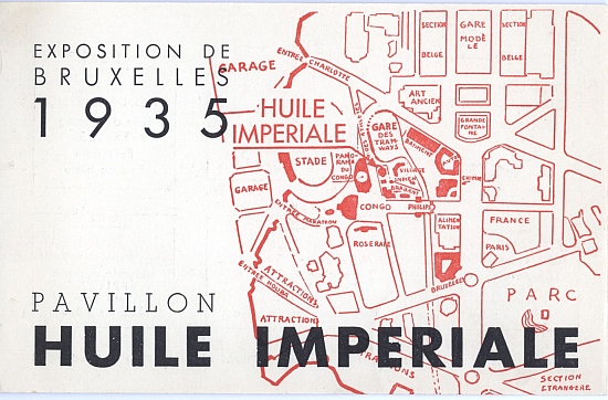 Brochure for Pavillion Huile Imperiale - Exposition de Bruxelles 1935 - Front