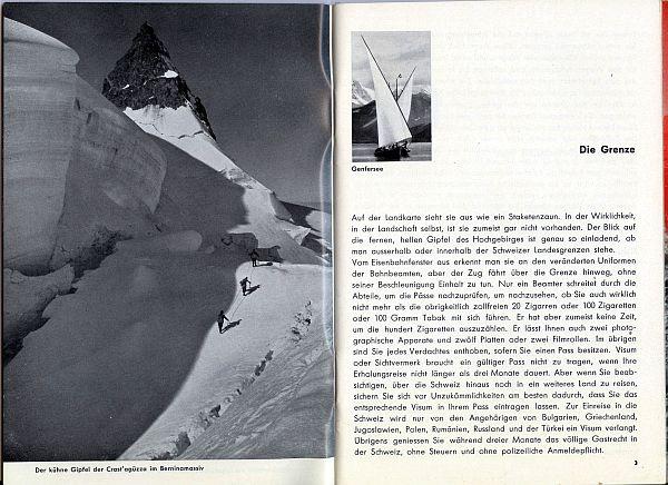 Der Kleine Schweizer Führer, 1935. Inside View Two