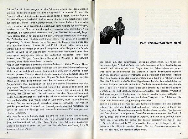 Der Kleine Schweizer Führer, 1935. Inside View Three