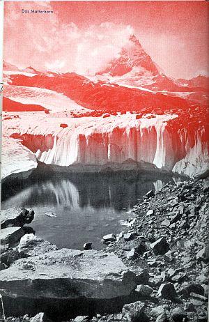 Der Kleine Schweizer Führer, 1935. Inside cover of the Matterhorn