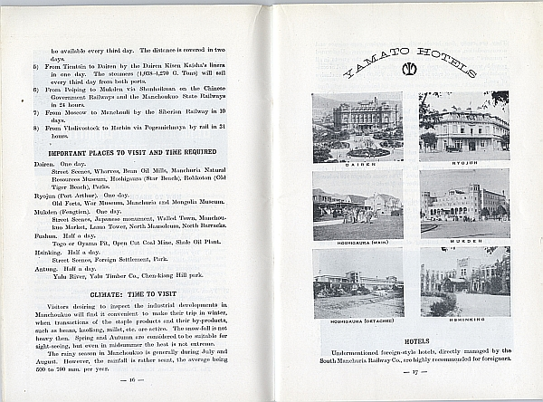Guide to Manchoukuo, 1934 from the South Manchuria Railway, Inside View Three ??
